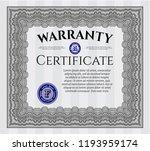 grey retro warranty certificate ... | Shutterstock .eps vector #1193959174