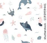 seamless pattern baby print... | Shutterstock .eps vector #1193959441