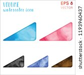 volume watercolor icon set.... | Shutterstock .eps vector #1193960437