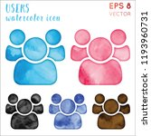 users watercolor icon set.... | Shutterstock .eps vector #1193960731