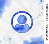 user circle o watercolor icon.... | Shutterstock .eps vector #1193960881