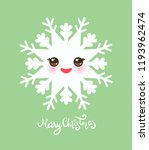 merry christmas card design... | Shutterstock .eps vector #1193962474