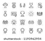 award line icons. set of winner ... | Shutterstock . vector #1193962954