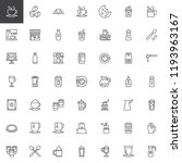 coffee shop outline icons set.... | Shutterstock .eps vector #1193963167