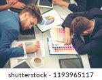 worker lazy person sleep... | Shutterstock . vector #1193965117
