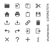 application toolbar glyph icons | Shutterstock .eps vector #1193967574