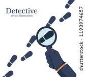 detective is investigating.... | Shutterstock .eps vector #1193974657