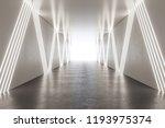 modern illuminated corridor...   Shutterstock . vector #1193975374