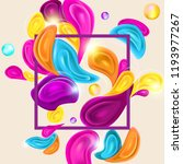 card template with multicolor... | Shutterstock .eps vector #1193977267