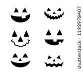 halloween pumpkin faces icons... | Shutterstock .eps vector #1193978407