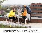 office coffee break  people...   Shutterstock . vector #1193979721
