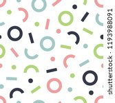 geometric vintage seamless... | Shutterstock .eps vector #1193988091