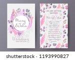 retro style wedding invitation... | Shutterstock .eps vector #1193990827