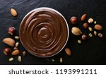 chocolate swirl and mixed nuts | Shutterstock . vector #1193991211