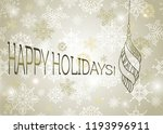 new year card  with shimmer  ... | Shutterstock .eps vector #1193996911