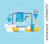 big data analysis  data storage ... | Shutterstock .eps vector #1194000727