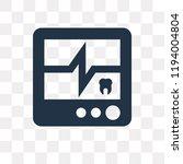 ekg monitor vector icon...   Shutterstock .eps vector #1194004804