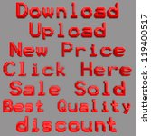 set of sale and promotion 3d... | Shutterstock . vector #119400517