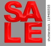 sale 3d isolated over black... | Shutterstock . vector #119400535