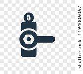 doorknob vector icon isolated... | Shutterstock .eps vector #1194006067