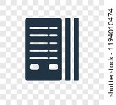 stats vector icon isolated on... | Shutterstock .eps vector #1194010474