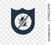 antivirus vector icon isolated... | Shutterstock .eps vector #1194011644