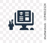 workspace vector icon isolated... | Shutterstock .eps vector #1194012124