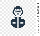 geek vector icon isolated on... | Shutterstock .eps vector #1194013414
