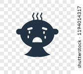 baby crying vector icon... | Shutterstock .eps vector #1194014317