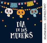 halloween  dia de los muertos... | Shutterstock .eps vector #1194017497