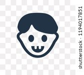 joyful vector icon isolated on... | Shutterstock .eps vector #1194017851
