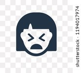 creepy vector icon isolated on... | Shutterstock .eps vector #1194017974