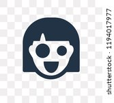 shocked vector icon isolated on ... | Shutterstock .eps vector #1194017977