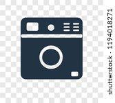 washing machine vector icon... | Shutterstock .eps vector #1194018271