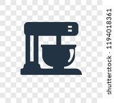 mixer vector icon isolated on... | Shutterstock .eps vector #1194018361