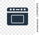 oven vector icon isolated on... | Shutterstock .eps vector #1194018451