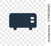 toaster vector icon isolated on ...   Shutterstock .eps vector #1194018481