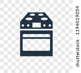 stove vector icon isolated on... | Shutterstock .eps vector #1194019054