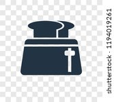 toaster vector icon isolated on ...   Shutterstock .eps vector #1194019261