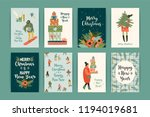 christmas and happy new year...   Shutterstock .eps vector #1194019681