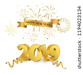 happy new year 2019 background. ... | Shutterstock .eps vector #1194023134
