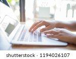 selective focus women s fingers ... | Shutterstock . vector #1194026107
