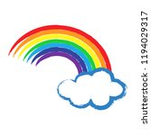 color rainbow with clouds  sky. ...   Shutterstock .eps vector #1194029317