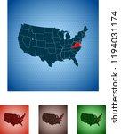 map of virginia | Shutterstock .eps vector #1194031174