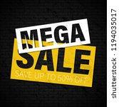 black friday sale inscription... | Shutterstock .eps vector #1194035017