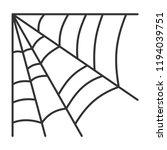 spider web thin line icon.... | Shutterstock .eps vector #1194039751