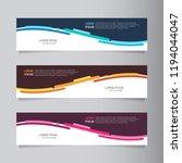 Stock vector vector abstract web banner design template collection of web banner template abstract geometric 1194044047