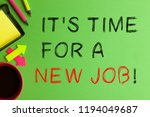 it's time for a new job text... | Shutterstock . vector #1194049687