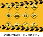 set of smog  pollution icon... | Shutterstock .eps vector #1194051217