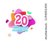 20 th logo anniversary and icon ... | Shutterstock .eps vector #1194051454